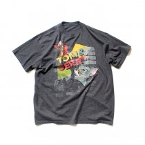 Hexico / American Cartoon Tee Ex. Used Tee Reflector Print リメイクプリントTシャツ05 ダークヘザーグレーXL