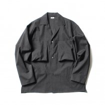 blurhms / Tropical Wool Shirt Jacket BHS-19AW001 - H. Charcoal
