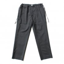 blurhms / Tropical Wool Side String Slacks BHS-19AW002 - H. Charcoal