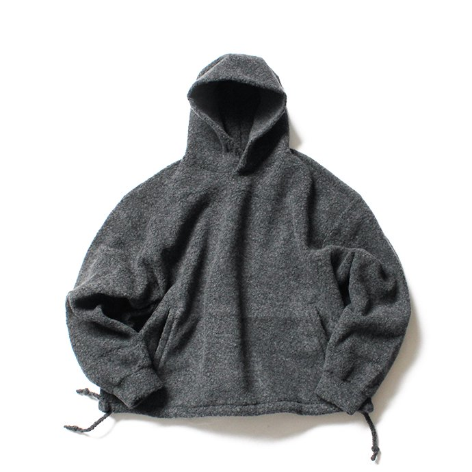 145116947 blurhms / Wool Pile Short Hoodie BHS-19AW033 - H. Charcoal 01