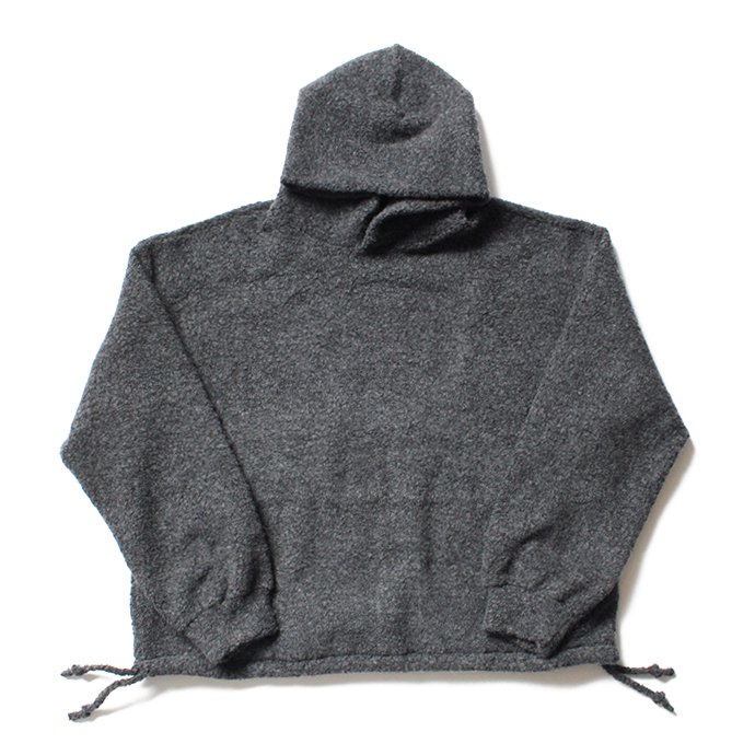 145116947 blurhms / Wool Pile Short Hoodie BHS-19AW033 - H. Charcoal 02