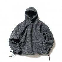 blurhms / Wool Pile Short Hoodie BHS-19AW033 - H. Charcoal