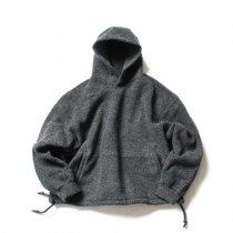 blurhms / Wool Pile Short Hoodie BHS-19AW033 - H. Charcoal