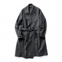 blurhms / Super Surge Motorcycle Coat BHS-19AW013 - H. Charcoal