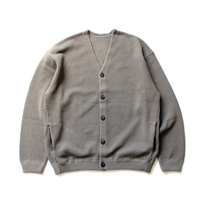 145455846 crepuscule / moss stitch V/N cardigan 1903-002 Gray 鹿の子編みカーディガン グレー<img class='new_mark_img2' src='//img.shop-pro.jp/img/new/icons47.gif' style='border:none;display:inline;margin:0px;padding:0px;width:auto;' /> 02