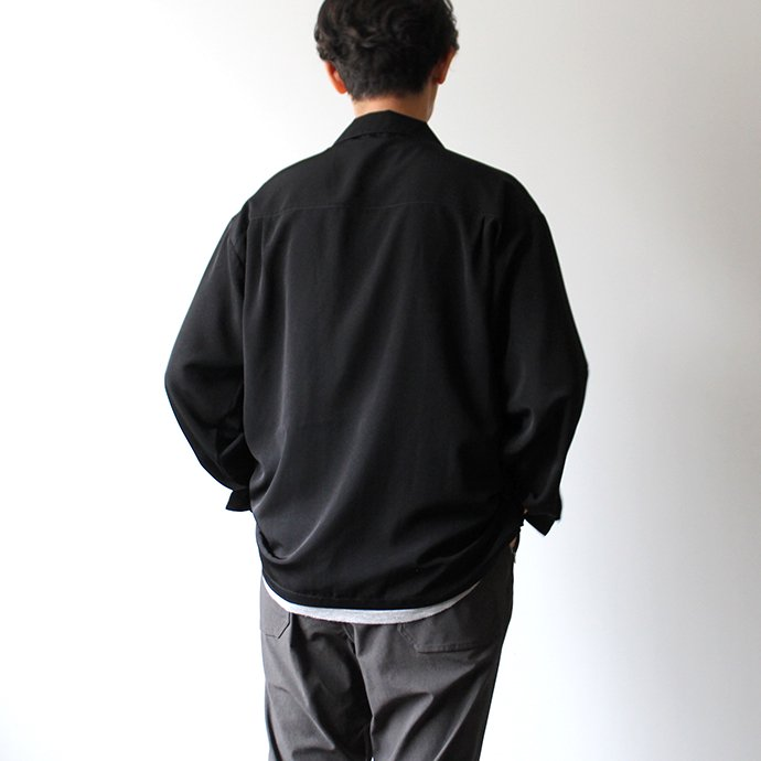 146058211 CalTop / 3003 Open Collar L/S Shirts - Black オープンカラー長袖シャツ ブラック<img class='new_mark_img2' src='//img.shop-pro.jp/img/new/icons47.gif' style='border:none;display:inline;margin:0px;padding:0px;width:auto;' /> 02