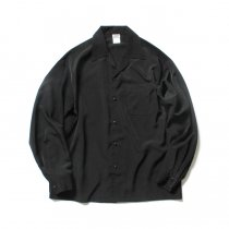 CalTop / 3003 Open Collar L/S Shirts - Black オープンカラー長袖シャツ ブラック<img class='new_mark_img2' src='//img.shop-pro.jp/img/new/icons47.gif' style='border:none;display:inline;margin:0px;padding:0px;width:auto;' />