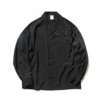 CalTop / 3003 Open Collar L/S Shirts - Black オープンカラー長袖シャツ ブラック<img class='new_mark_img2' src='https://img.shop-pro.jp/img/new/icons47.gif' style='border:none;display:inline;margin:0px;padding:0px;width:auto;' />