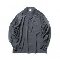 CalTop / 3003 Open Collar L/S Shirts - Charcoal オープンカラー長袖シャツ チャコール