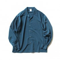 CalTop / 3003 Open Collar L/S Shirts - Sage Blue オープンカラー長袖シャツ セージブルー<img class='new_mark_img2' src='//img.shop-pro.jp/img/new/icons47.gif' style='border:none;display:inline;margin:0px;padding:0px;width:auto;' />