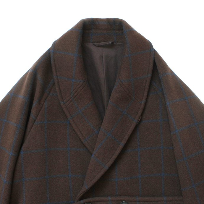 146079826 blurhms / Wool Cashmere Melton Shawl Coat BHS-19AW007 - Brown 02