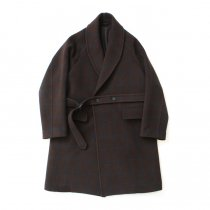 blurhms / Wool Cashmere Melton Shawl Coat BHS-19AW007 - Brown
