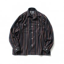 CEASTERS / Wool Workshirts - Navy Stripe ウールワークシャツ