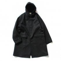 STILL BY HAND / CO0394 ボンディング素材 フーデッドコート - Black