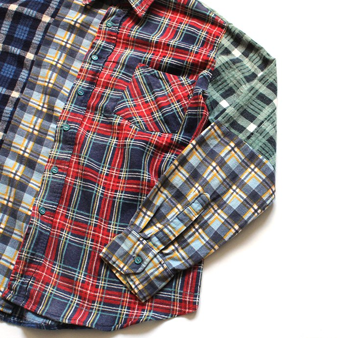 146903226 Hexico / Deformer Switching Color Ex. Printed Plaid Flannel Shirts リメイクプリントネルシャツ L - 01<img class='new_mark_img2' src='//img.shop-pro.jp/img/new/icons47.gif' style='border:none;display:inline;margin:0px;padding:0px;width:auto;' /> 02