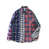 Hexico / Deformer Switching Color Ex. Printed Plaid Flannel Shirts リメイクプリントネルシャツ L - 01<img class='new_mark_img2' src='//img.shop-pro.jp/img/new/icons47.gif' style='border:none;display:inline;margin:0px;padding:0px;width:auto;' />