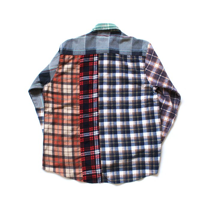 146903293 Hexico / Deformer Switching Color Ex. Printed Plaid Flannel Shirts リメイクプリントネルシャツ L - 02 02