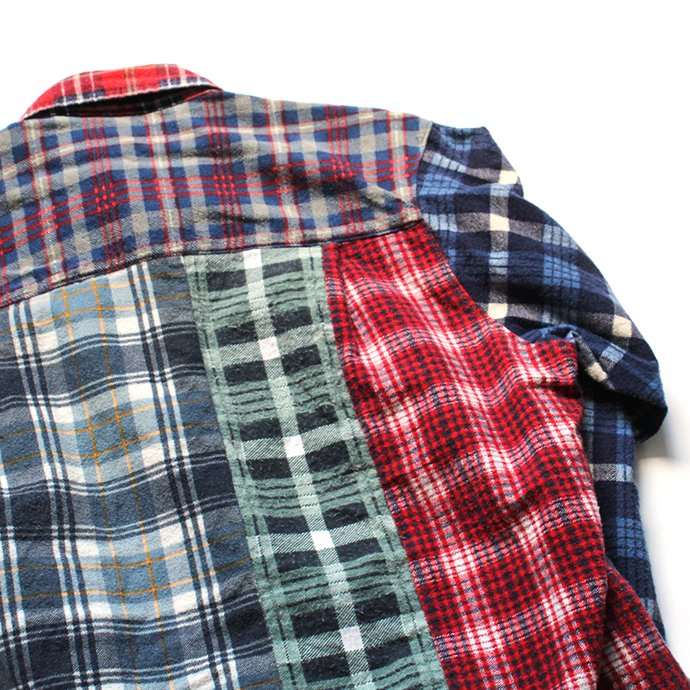 146903320 Hexico / Deformer Switching Color Ex. Printed Plaid Flannel Shirts リメイクプリントネルシャツ L - 03 02