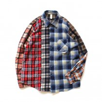 Hexico / Deformer Switching Color Ex. Printed Plaid Flannel Shirts リメイクプリントネルシャツ L - 06<img class='new_mark_img2' src='//img.shop-pro.jp/img/new/icons47.gif' style='border:none;display:inline;margin:0px;padding:0px;width:auto;' />
