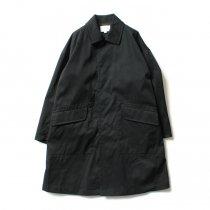 STILL BY HAND / CO0294 ナイロン素材 ステンカラーコート - Black