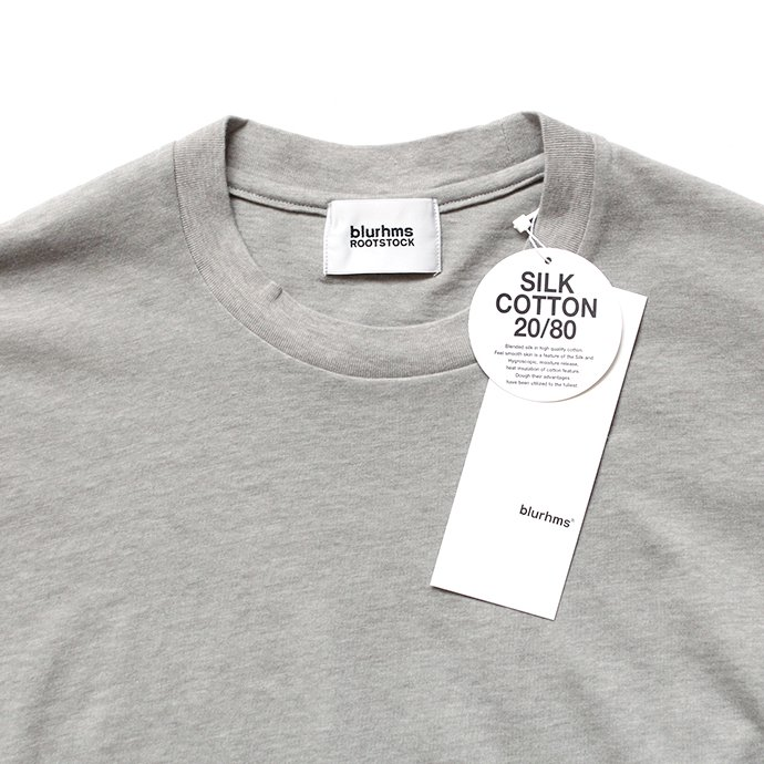 148227294 blurhms ROOTSTOCK / Silk Cotton Jersey Circle-Neck BHS-RKSS17013-20S - H.Grey<img class='new_mark_img2' src='//img.shop-pro.jp/img/new/icons20.gif' style='border:none;display:inline;margin:0px;padding:0px;width:auto;' /> 02