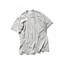 blurhms ROOTSTOCK / Silk Cotton Jersey Circle-Neck BHS-RKSS17013-20S - H.Grey