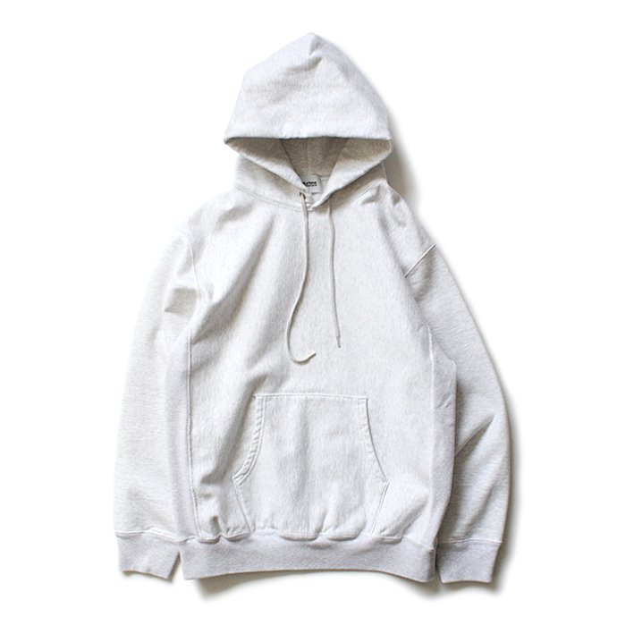 148259578 blurhms ROOTSTOCK / Soft & Hard Sweat Hoodie P/O - White Heather BHS-RKAW19010-20S 01