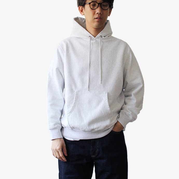 148259578 blurhms ROOTSTOCK / Soft & Hard Sweat Hoodie P/O - White Heather BHS-RKAW19010-20S 02