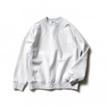 blurhms ROOTSTOCK / Soft & Hard Sweat Crew-neck P/O - White Heather BHS-RKAW19011-20S