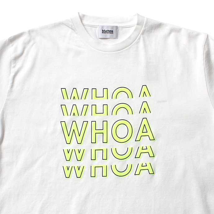 149189228 blurhms ROOTSTOCK / WHOA Tee Loose Fit BHS-RKSS18100-20SA - White 02