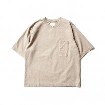 STILL BY HAND / CS04202 ポケットTシャツ - Beige