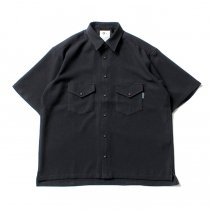O-(オー)/ ELBOW SLEEVE SHIRT エルボースリーブシャツ 20S-04 - Black<img class='new_mark_img2' src='//img.shop-pro.jp/img/new/icons47.gif' style='border:none;display:inline;margin:0px;padding:0px;width:auto;' />