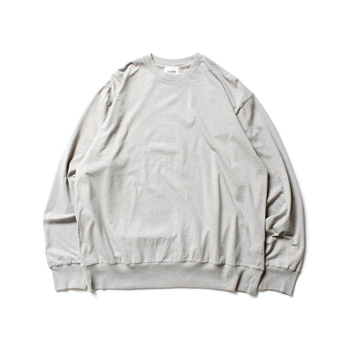 152342599 blurhms ROOTSTOCK / Silk Cotton Jersey L/S Loose Fit ROOTS-F206 - Heather Grey 02