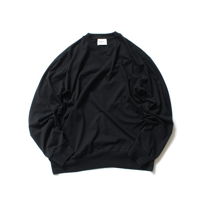 152342621 blurhms ROOTSTOCK / Silk Cotton Jersey L/S Loose Fit ROOTS-F206 - Black<img class='new_mark_img2' src='https://img.shop-pro.jp/img/new/icons47.gif' style='border:none;display:inline;margin:0px;padding:0px;width:auto;' /> 01