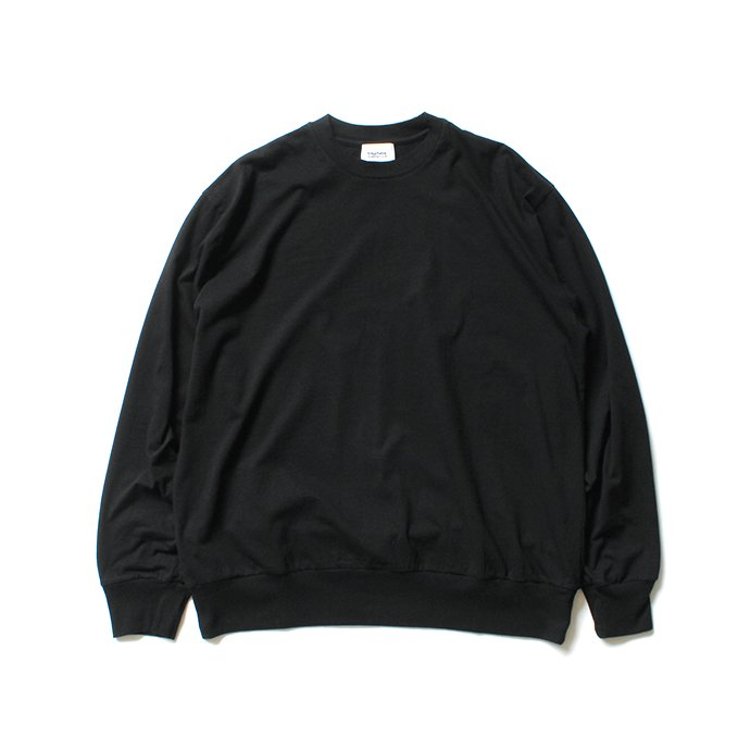 152342621 blurhms ROOTSTOCK / Silk Cotton Jersey L/S Loose Fit ROOTS-F206 - Black<img class='new_mark_img2' src='https://img.shop-pro.jp/img/new/icons47.gif' style='border:none;display:inline;margin:0px;padding:0px;width:auto;' /> 02