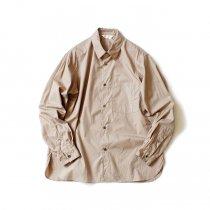 STILL BY HAND / SH04203 サイロツイル レギュラーカラーシャツ - Beige