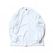 SMOKE T ONE / Dry Pique Mock Neck L/S ドライ鹿の子モックネック長袖Tシャツ - White<img class='new_mark_img2' src='//img.shop-pro.jp/img/new/icons47.gif' style='border:none;display:inline;margin:0px;padding:0px;width:auto;' />