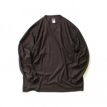SMOKE T ONE / Dry Pique Mock Neck L/S ドライ鹿の子モックネック長袖Tシャツ - Brown<img class='new_mark_img2' src='https://img.shop-pro.jp/img/new/icons47.gif' style='border:none;display:inline;margin:0px;padding:0px;width:auto;' />