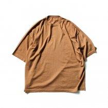 crepuscule / 2003-008 Cashmere t-sh - Camel カシミアニットTシャツ キャメル