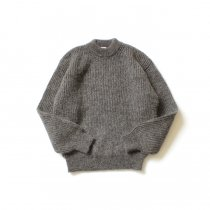 blurhms ROOTSTOCK / Kid Mohair Alpaca Wool Knit P/O - HeatherBrown ROOTS-RKAW19AW036F20