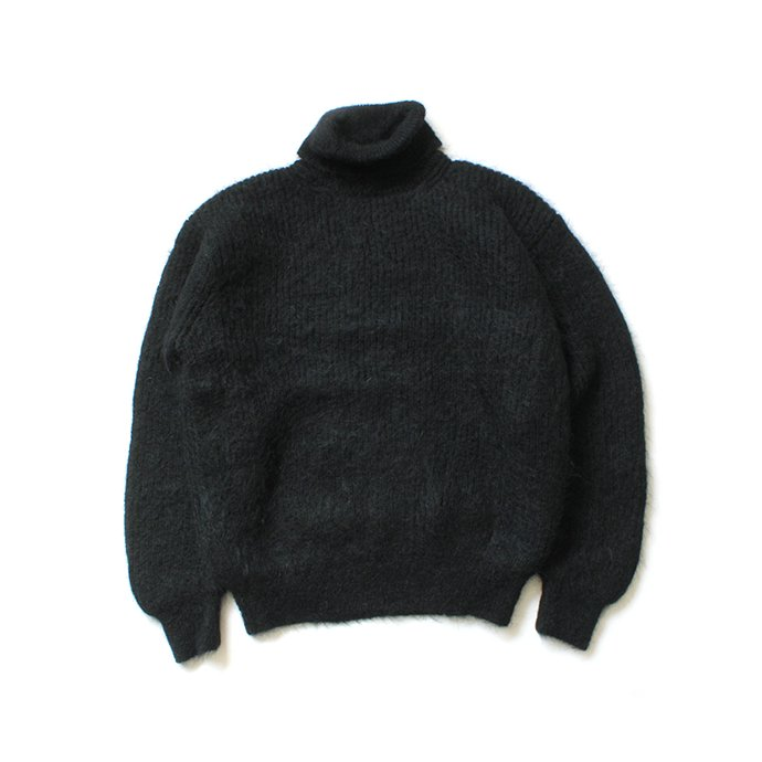 153755180 blurhms ROOTSTOCK / Kid Mohair Alpaca Wool Knit Turtle-neck P/O - Black ROOTS-RKAW19AW037F20 01