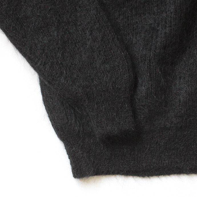153755180 blurhms ROOTSTOCK / Kid Mohair Alpaca Wool Knit Turtle-neck P/O - Black ROOTS-RKAW19AW037F20 02