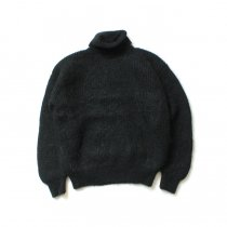blurhms ROOTSTOCK / Kid Mohair Alpaca Wool Knit Turtle-neck P/O - Black ROOTS-RKAW19AW037F20
