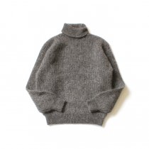 blurhms ROOTSTOCK / Kid Mohair Alpaca Wool Knit Turtle-neck P/O - HeatherBrown ROOTS-RKAW19AW037F20