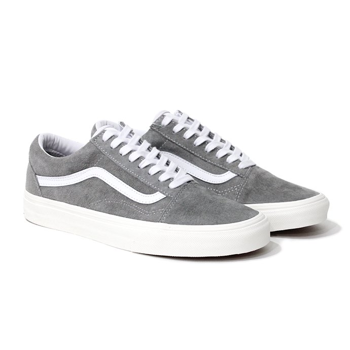 154042782 VANS / Pig Suede Old Skool - Drizzle / Snow White ヴァンズ スウェードオールドスクール グレー VN0A4BV518P 01