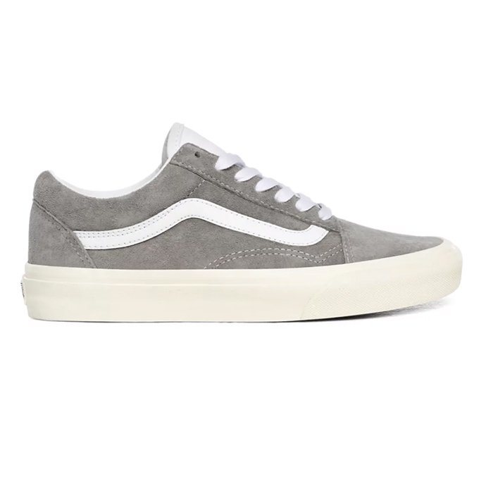 154042782 VANS / Pig Suede Old Skool - Drizzle / Snow White ヴァンズ スウェードオールドスクール グレー VN0A4BV518P 02