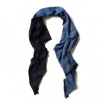STILL BY HAND / 大判ストール GD01203 - Blue/Navy
