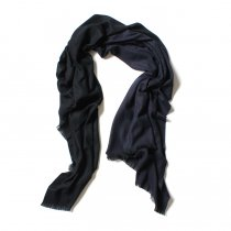 STILL BY HAND / 大判ストール GD01203 - Black/Navy