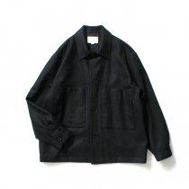 STILL BY HAND / BL02204 ウール カバーオールジャケット - Black