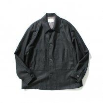 STILL BY HAND / BL02204 ウール カバーオールジャケット - Charcoal